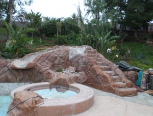 Before Artifical Rock Repaint and Repair in SoCal